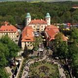Widok z wieży zamku Książ