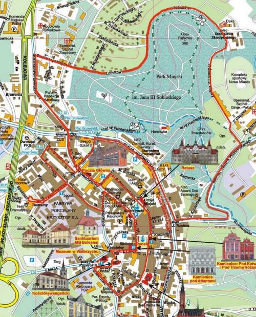 Trasa XIII Półmaratonu Wałbrzych