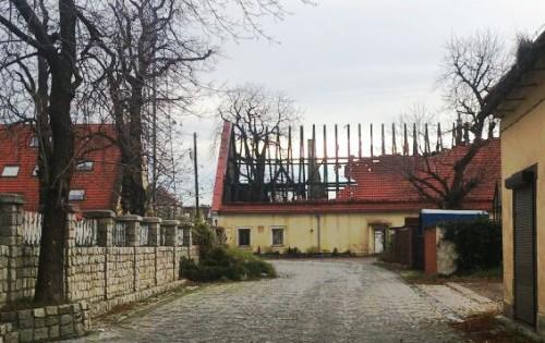 """Klub """"Stara Rzeźnia"""" w Wałbrzychu po pożarze 3 listopada 2013 roku"""