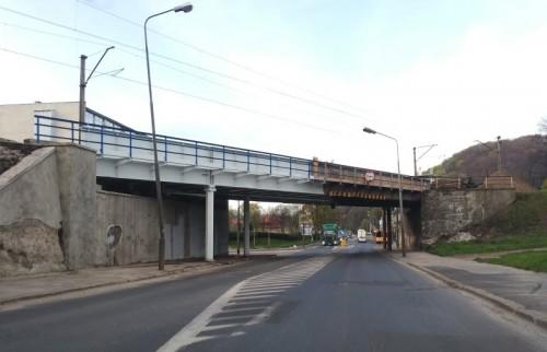 Wiadukt kolejowy na skrzyżowaniu ul. Wrocławskiej i Piotrowskiego w Wałbrzychu