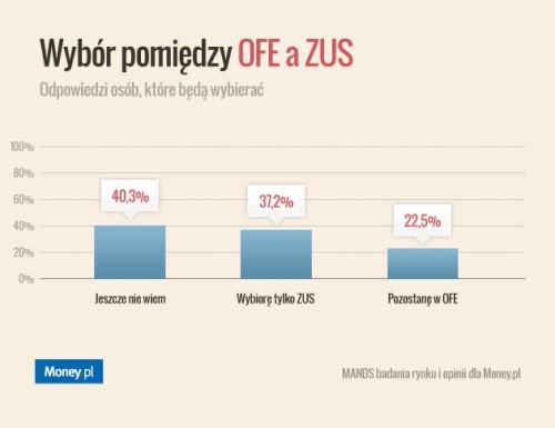 Ponad połowa Polaków nie wie jak wybrać OFE albo ZUS