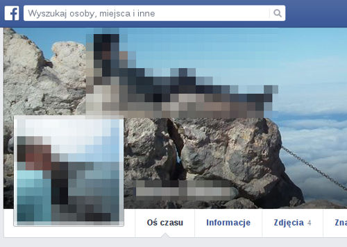 Profil Facebook - rozmazany
