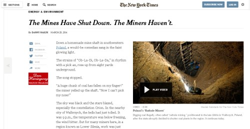 The Mines Have Shut Down. The Miners Haven't.