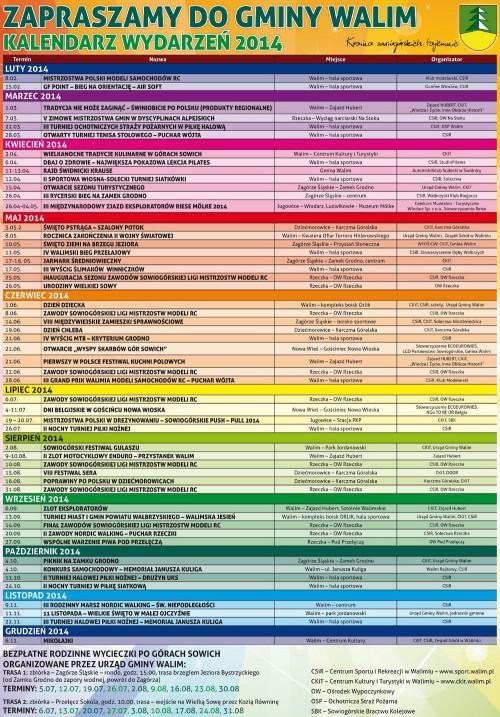Kalendarz imprez gminy Walim