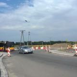 Nowe rondo na ul. Wrocławskiej w okolicach Palmiarni