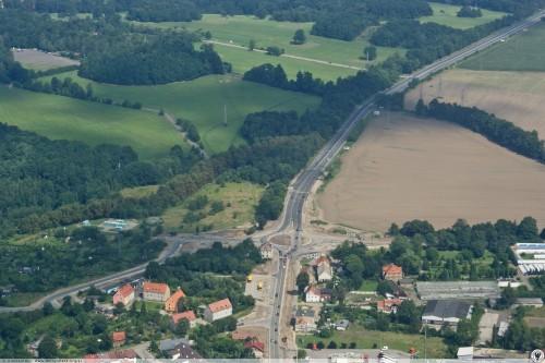 Budowa ronda na drodze krajowej nr 35 (wjazd do Wałbrzycha od strony Świebodzic) [fot. Krzysztof Kobusiński / http://dolny-slask.org.pl/4859142,foto.html?idEntity=4732966]