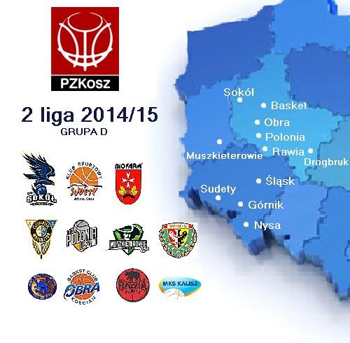 2 liga koszykówki - sezon 2014/2015