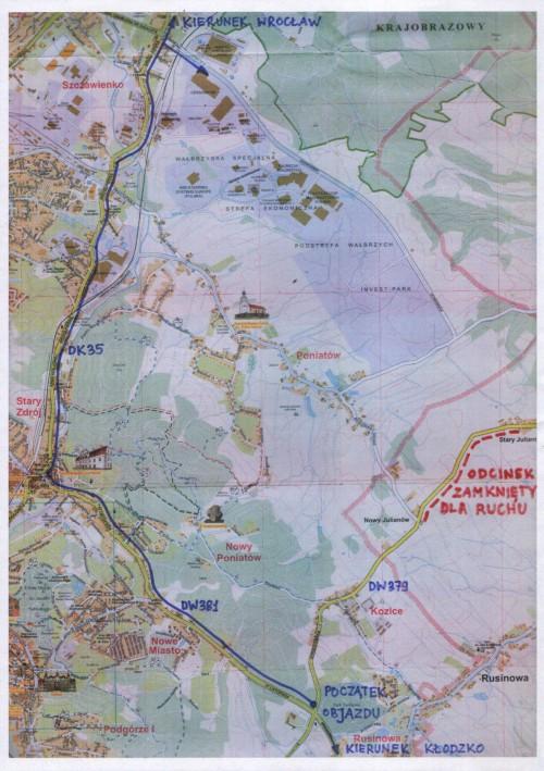 Objazd fragmentu DW 379