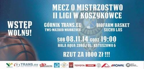 Górnik - Basket Suchy Las (sobota, 08.11.2014 r.)