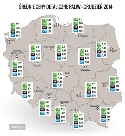 źródło: Money.pl na podstawie danych e-petrol.pl
