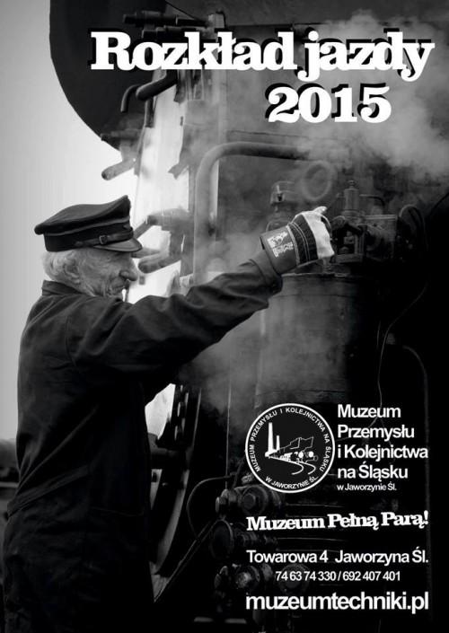 Rozkład jazdy 2015 w Muzeum Przemysłu i Kolejnictwa na Śląsku