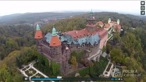 Wałbrzych z drona: Zamek Książ