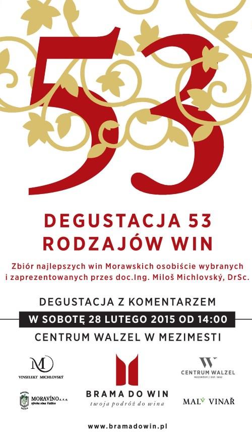 Degustacja 53 rodzajów win