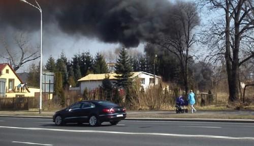 Pożar przy ulicy Wieniawskiego