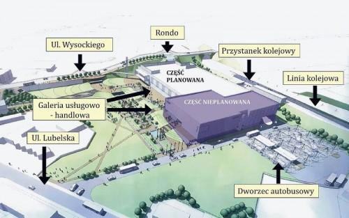 """Wstępna wizualizacja centrum przesiadkowego """"Wałbrzych Centrum"""" [fot. Wałbrzych Moje Miasto (walbrzych.eu)]"""