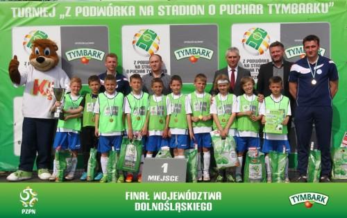 Zwycięska drużyna chłopców U-10 UKS Kiełczów Academy (fot. A. Kraszewski)