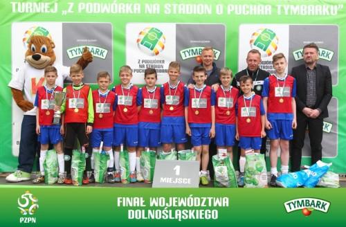 Zwycięska drużyna chłopców U-12 UKS Gryf Świdnica (fot. A. Kraszewski)