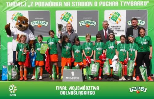 Zwycięska drużyna dziewcząt U-10 UKS Wołów (fot. A. Kraszewski)