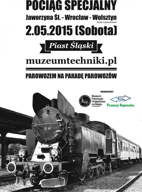 """Pociąg specjalny """"Piast Śląski"""" - kurs lokomotywy TKt48-18"""