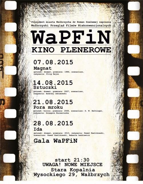 WaPFiN 2015: wieczór kina plenerowego