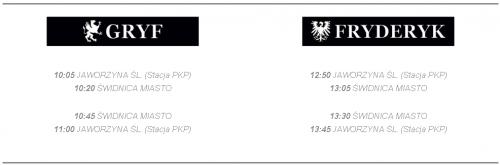 Rozkłady jazdy pociągóRozkłady jazdy pociągów Gryf i Fryderykw Gryf i Fryderyk
