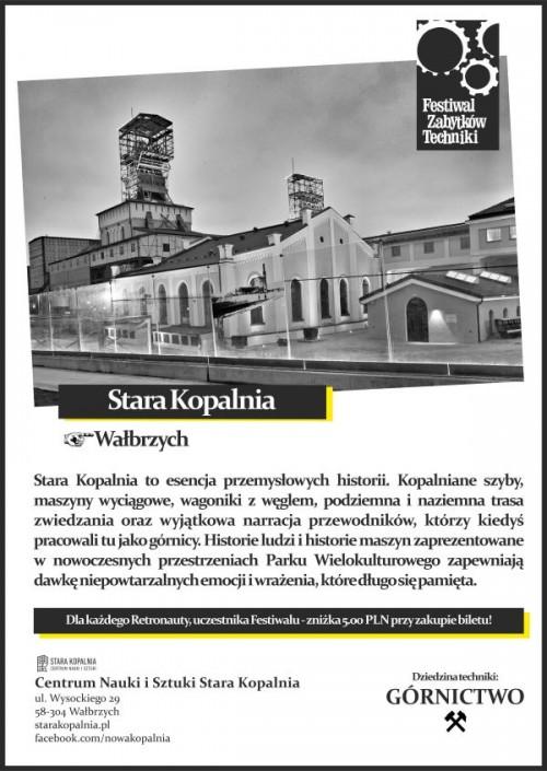 """Zabytkowy pociąg specjalny """"Antracyt"""" w Starej Kopalni"""