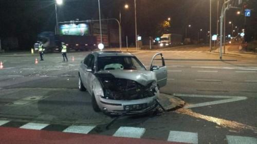 Wypadek na skrzyżowaniu ulic Wrocławskiej i Uczniowskiej