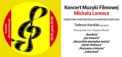 Dni Muzyki Filmowej w Filharmonii Sudeckiej