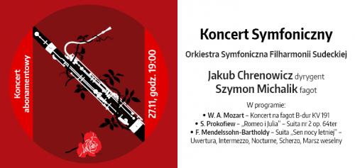 Koncert symfoniczny Filharmoniii Sudeckiej