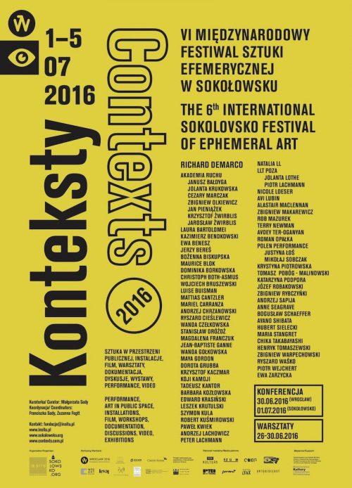 Konteksty 2016: Festiwal Sztuki Efemerycznej w Sokołowsku