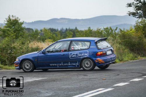 Robert Nykiel i Tomasz Kołodziejczyk (Honda Civic klasa 4) [fot. Piotr Puchalski]