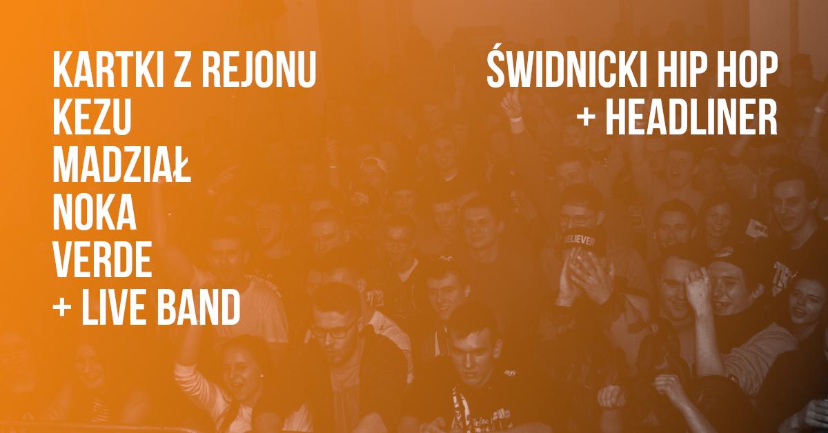 RAPSODIA ŚWIDNICKA #8: lokalni MCs + liveband + headliner [hip hop]
